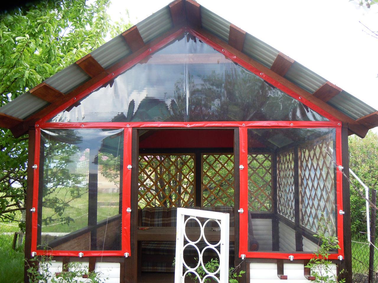 Сделать шторы для беседки